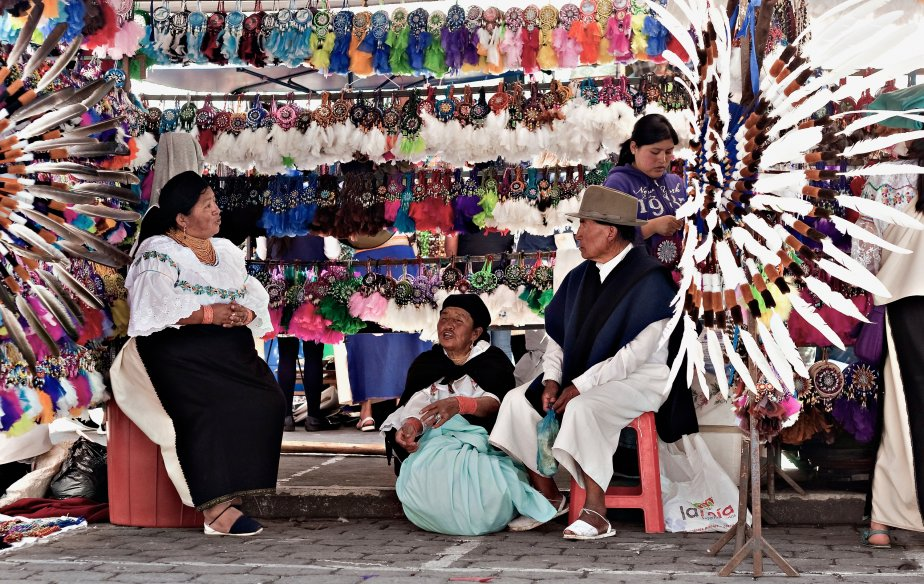 Le marché d'Otavalo. (Photo Olivier Jean, collaboration spéciale)