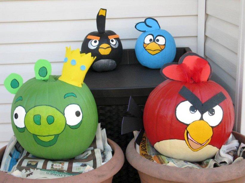 Comment ne pas craquer pour ces citrouilles inspirées du phénomène de l'heure sur Internet, les sympathiques cochons verts et oiseaux en colère du jeu Angry Birds? Cet éclair de génie est une oeuvre réalisée par Josée Guillemette, de Saint-Augustin-de-Desmaures | 29 octobre 2012