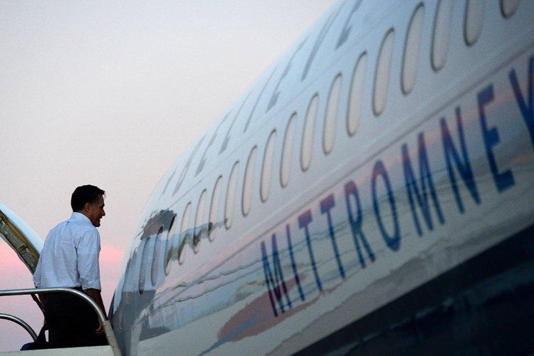 L'image du républicain poursuivant sa campagne aurait pu... (Photo: AFP)