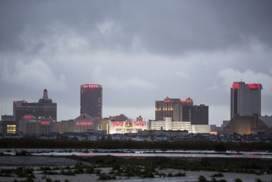 La ville d'Atlantic City au lendemain du passage de l'ouragan Sandy. | 30 octobre 2012