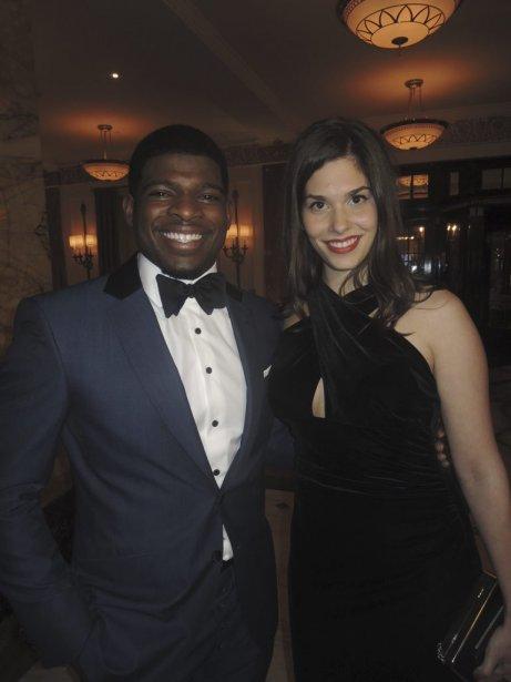 P.K Subban et Daphnee Hanrahan de la boutique Sartorialto. | 1 novembre 2012