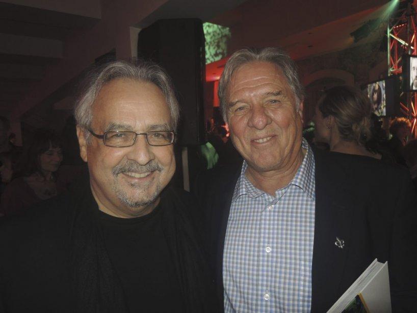 L?ancien président de l?UDA Pierre Curzi et son ami le comédien Raymond Bouchard. | 1 novembre 2012