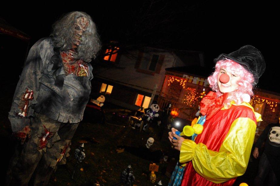 Élodie Morin a organisé un rallye de l'Halloween dans le secteur Cap-de-la-Madeleine au profit d'Opération Enfant Soleil. | 1 novembre 2012