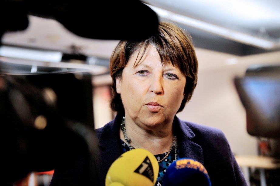 L'ancienne patronne du Parti socialiste et actuelle mairesse... (PHOTO HILIPPE HUGUEN, AFP)