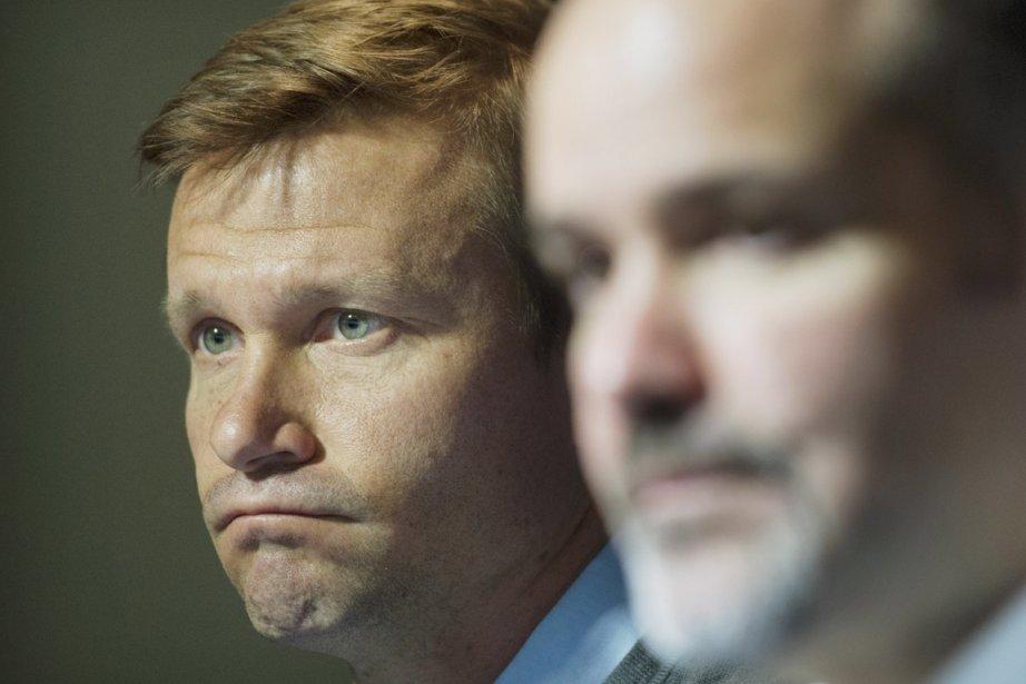 L'ex-entraîneur Jesse Marsch et le président de l'Impact,... (Photo Graham Hughes, La Presse Canadienne)