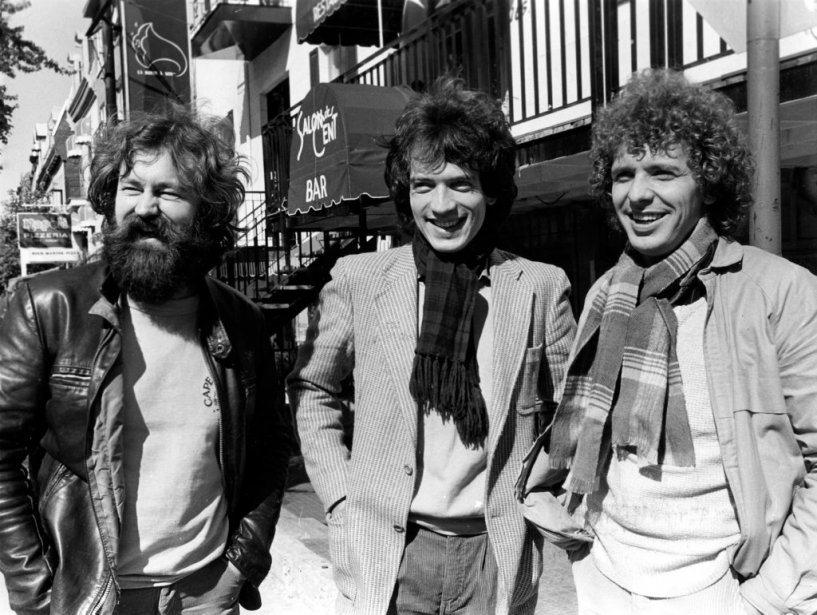 Paul et Paul, cool attitude et moins de cheveux au vent, en 1980 (de gauche à droite: Grisé, Meunier et Thériault). | 5 novembre 2012