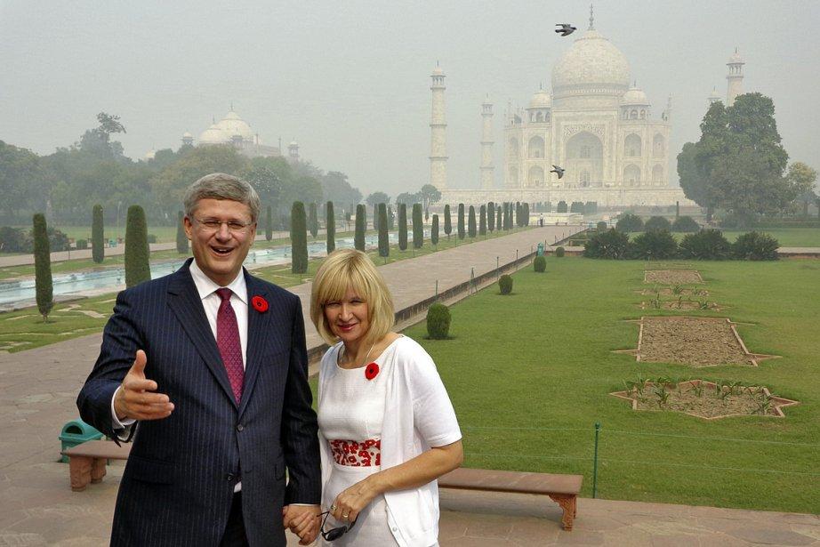 Stephen Harper et sa femme, Laureen, ont visité... (Photo: Reuters)
