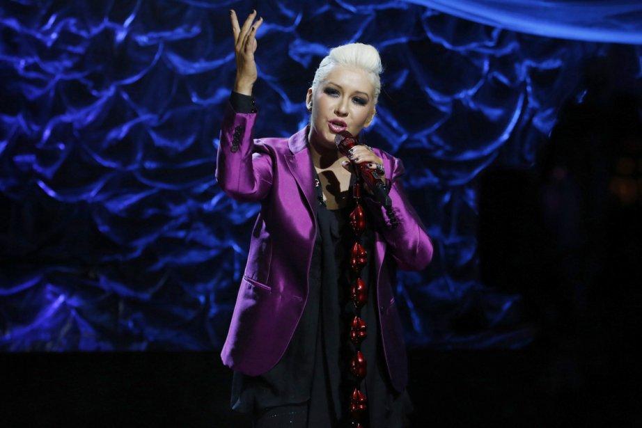 Christina Aguilera a interprété Beautiful.... (Photo: Reuters)