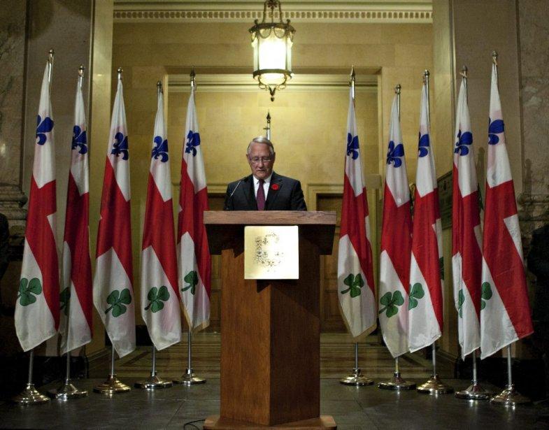 Pour son dernier discours, Gérald Tremblay a tenu à nier deux allégations. | 5 novembre 2012