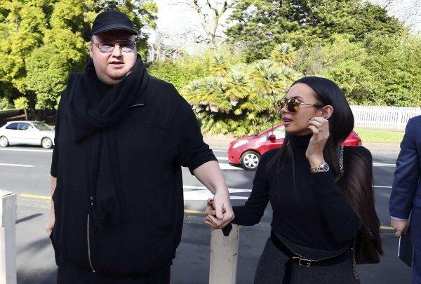 Kim Dotcom et sa femme Mona...