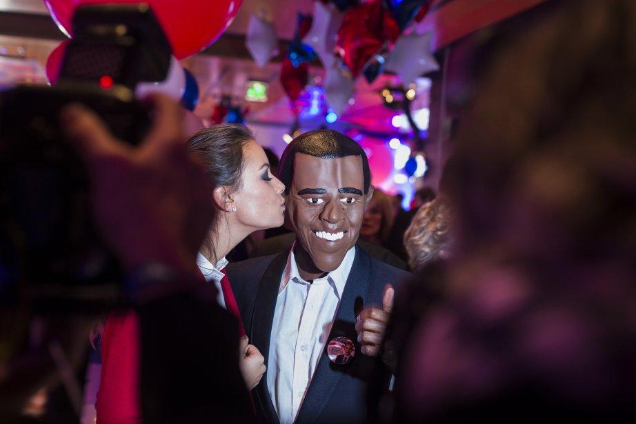 En Europe, l'élection est également très suivie. Ici, à Berlin, on déclare sa flamme pour le candidat démocrate. | 6 novembre 2012