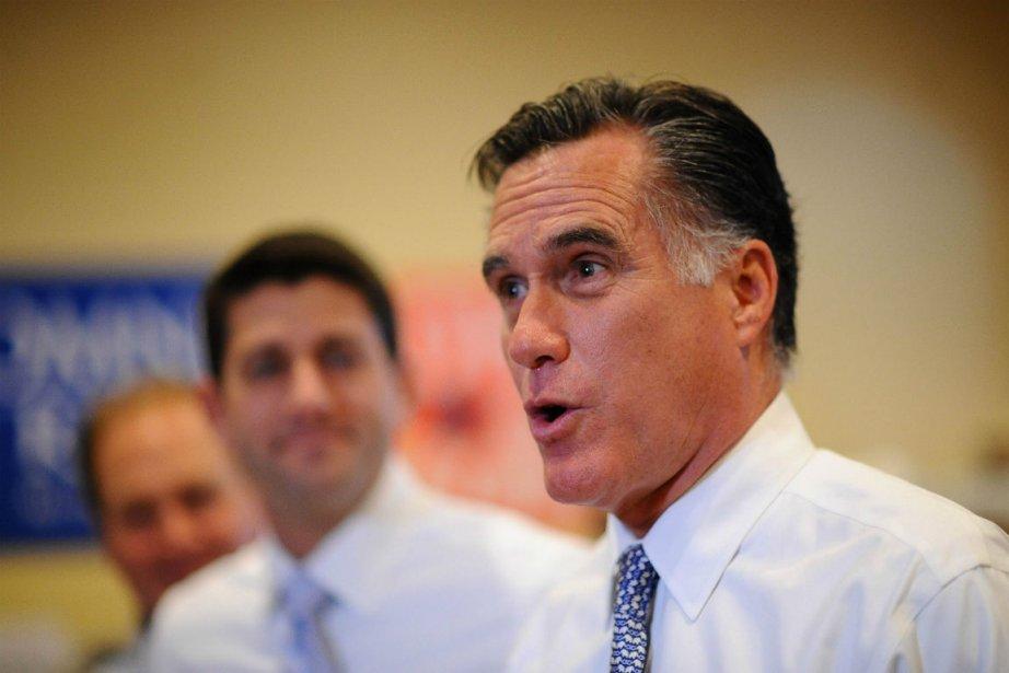 Mitt Romney, candidat malheureux aux élections américaines, ici... (Photo AFP)