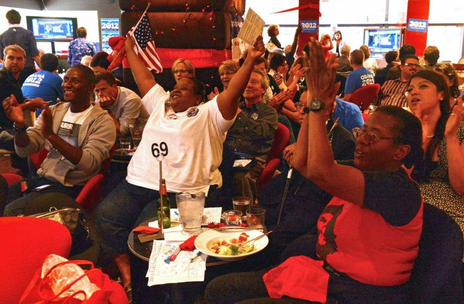 Réactions de joie à la victoire, à Sydney. | 6 novembre 2012