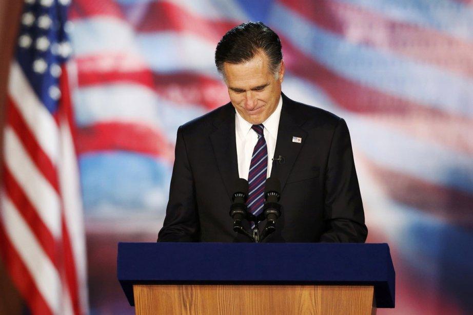 Mitt Romney a dû concéder la défaite.... (Photo Reuters)