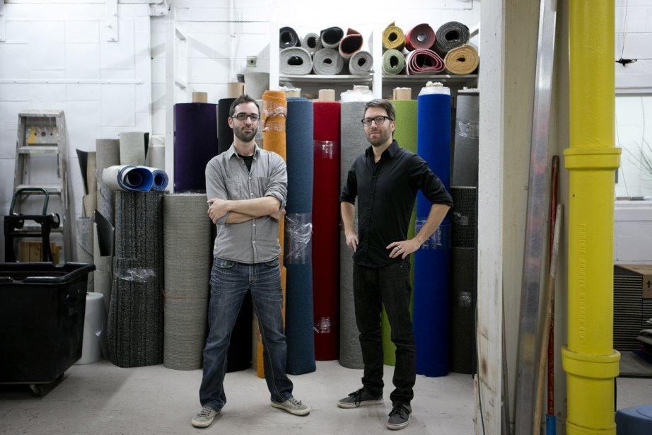 François Palmer et Jean-François Rousseau dans leur atelier... (Photo: Marco Campanozzi, La Presse)