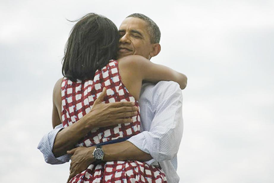 Le couple présidentiel, Michelle et Barack Obama.... (PHOTO TIRÉE DE TWITTER)