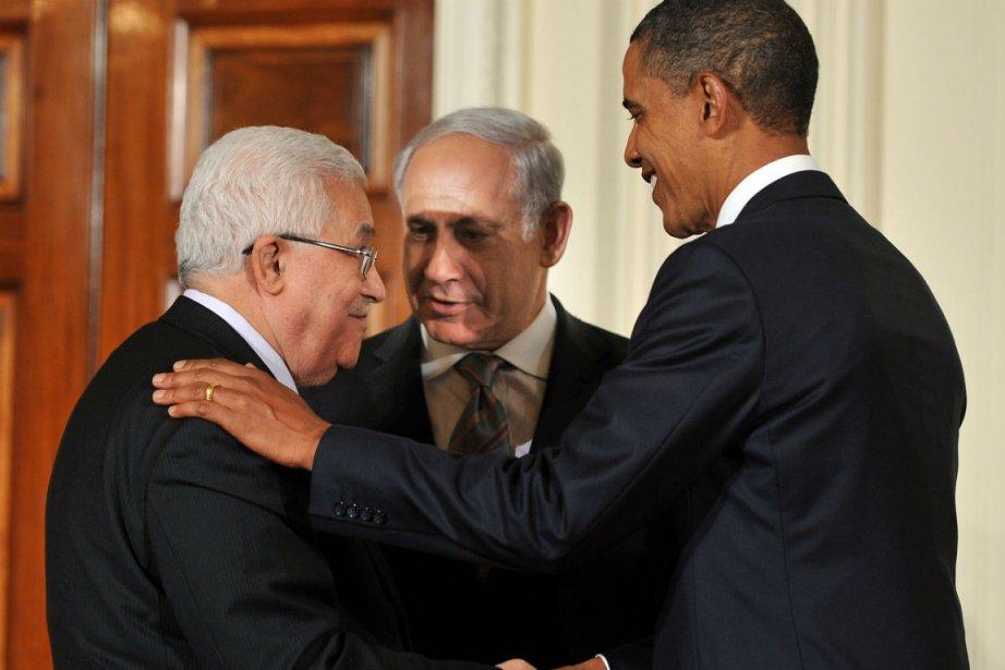 Le président de l'Autorité palestinienne, Mahmoud Abbas, le... (Photo Tim Sloan, Agence France-Presse)