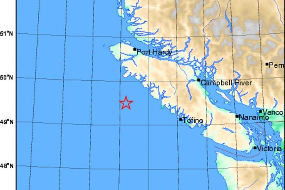 Un tremblement de terre de magnitude 6,2... (Carte Ressources naturelles Canada)