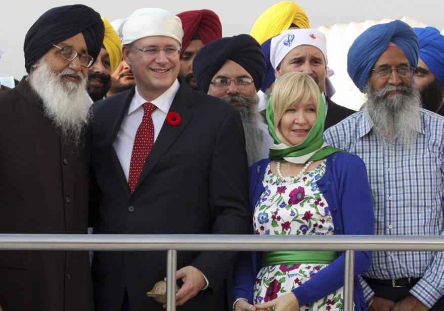 Stephen Harper et le dirigeant du Punjab Parkash Singh Badal. | 8 novembre 2012