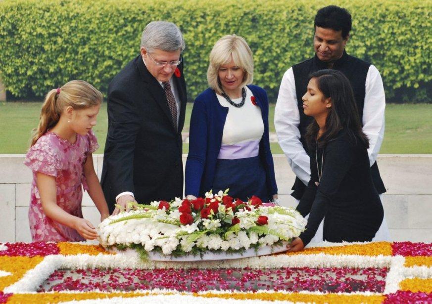 Stephen Harper au mémorial de Mahatma Gandhi à New Delhi. | 8 novembre 2012