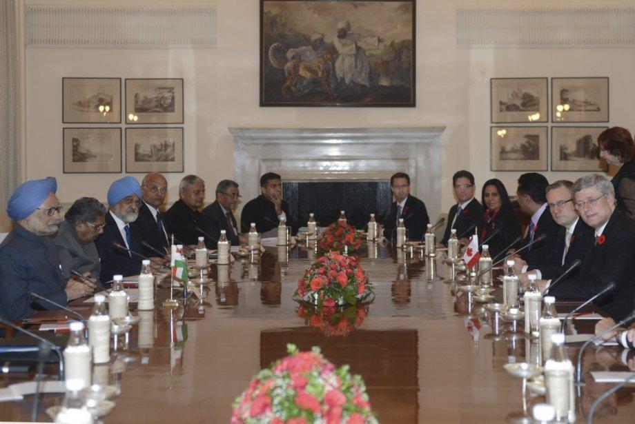 Rencontre des premiers ministres indien et canadien. | 8 novembre 2012