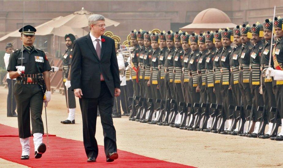 Stephen Harperau palais présidentiel à New Delhi. | 8 novembre 2012