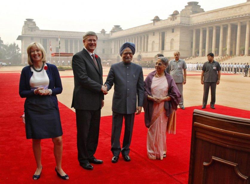 Avec le premier ministre indien. | 8 novembre 2012
