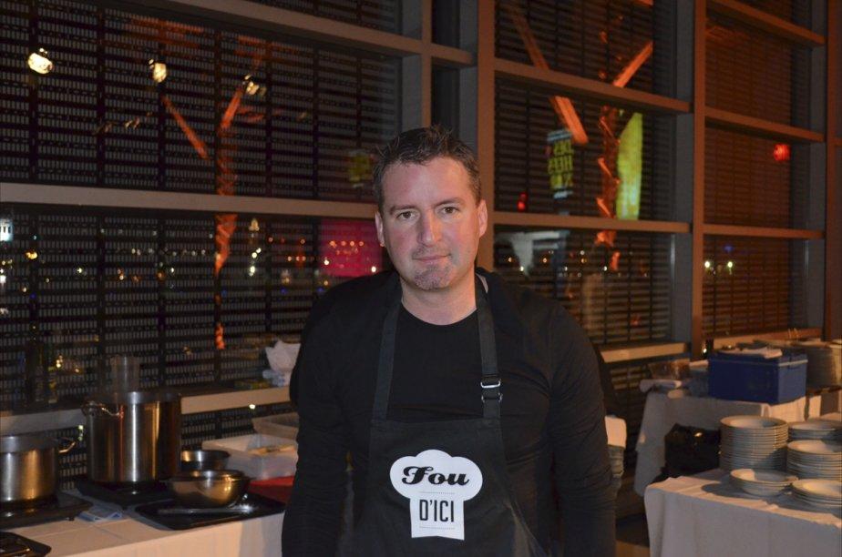 Le chef du restaurant Fou d'ici, Daren Bergeron, gagnant de la médaille d'or des Chefs en or, mardi soir. | 8 novembre 2012