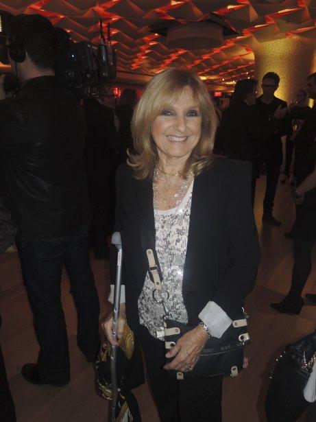 Dominique Michel était la présidente d'honneur, le 1er novembre dernier, du cocktail dînatoire offert par À votre santé en collaboration avec les champagnes Taittinger au Salon urbain de la Place des Arts. | 8 novembre 2012