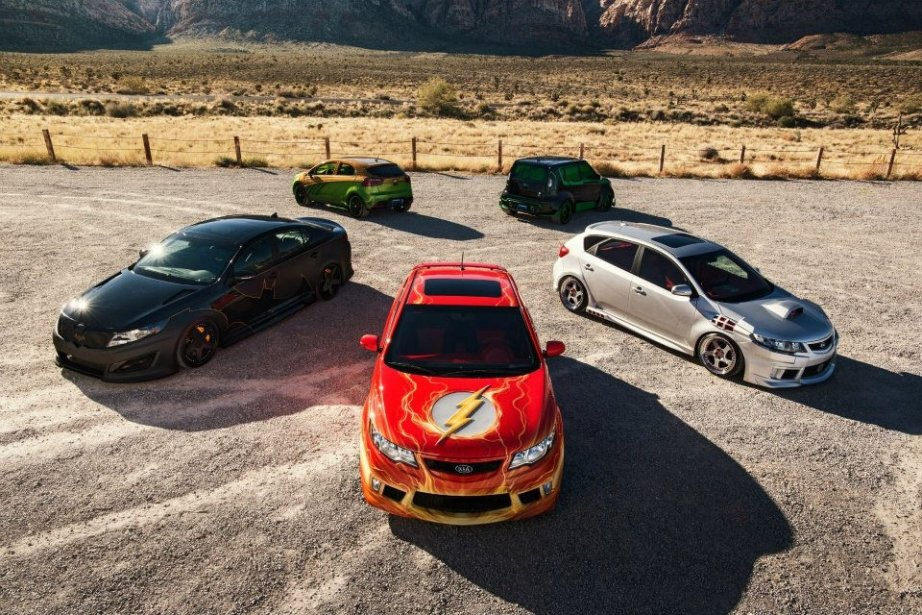 Kia League of Justice Super Cars (Photo fournie par Kia)