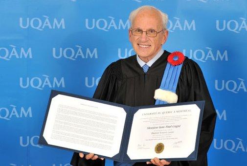 L'Université du Québec à Montréal a décerné cette semaine un doctorat honoris...