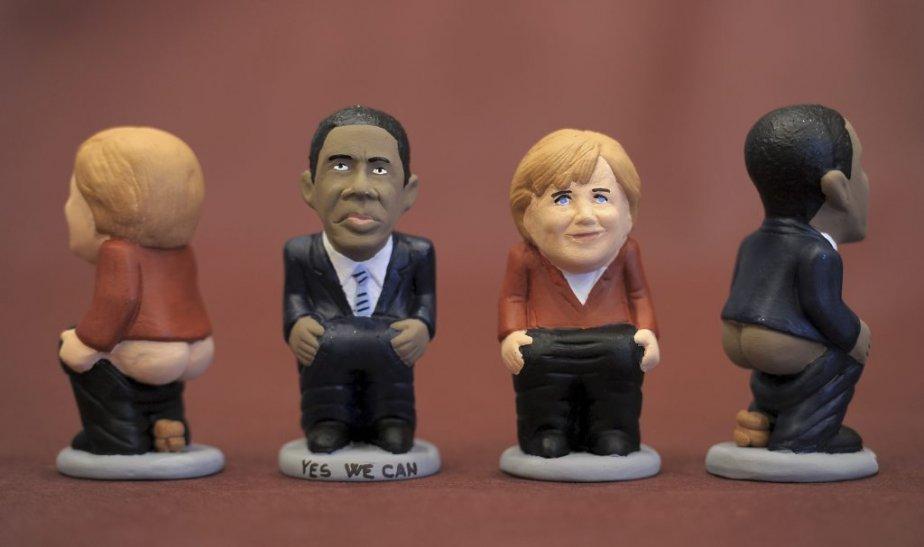 Des figurines un peu particulières de Barack Obama et Angela Merkel... | 9 novembre 2012