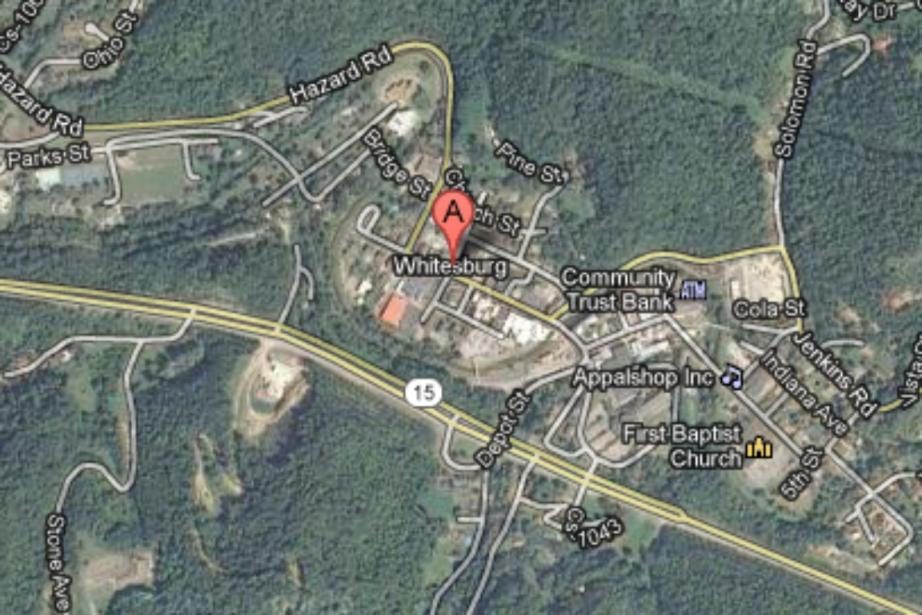 L'épicentre du séisme de magnitude 4,3, survenu samedi... (Capture d'écran Google Maps)