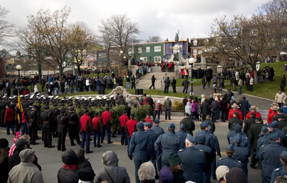 Jour du Souvenir à St. John's, à Terre-Neuve-et-Labrador. | 11 novembre 2012