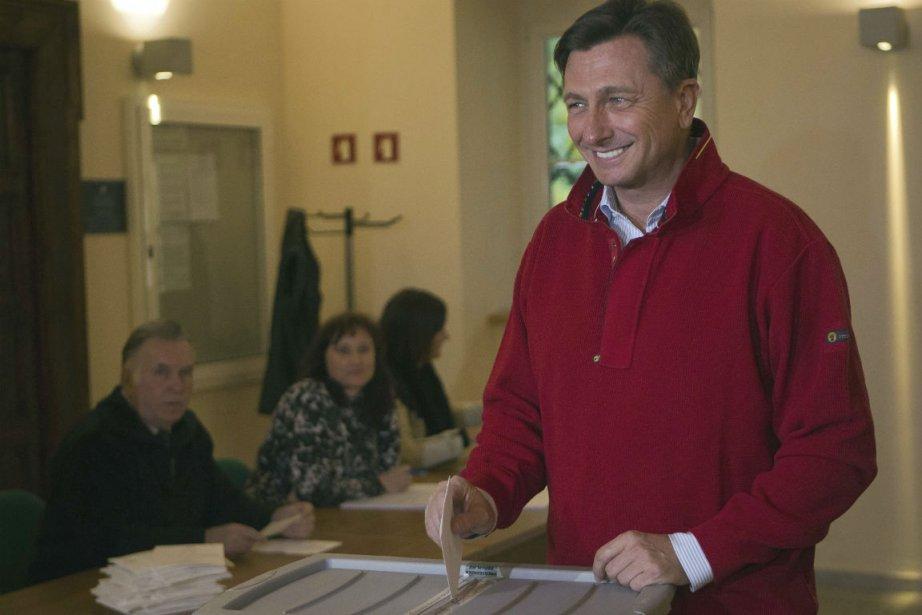 Dès les premières tendances connues, Borut Pahor, dont... (Photo Darko Bandic, Associated Press)