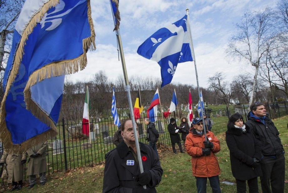 Jour du Souvenir au cimetière Côtes-des-Neiges, à Montréal. | 11 novembre 2012