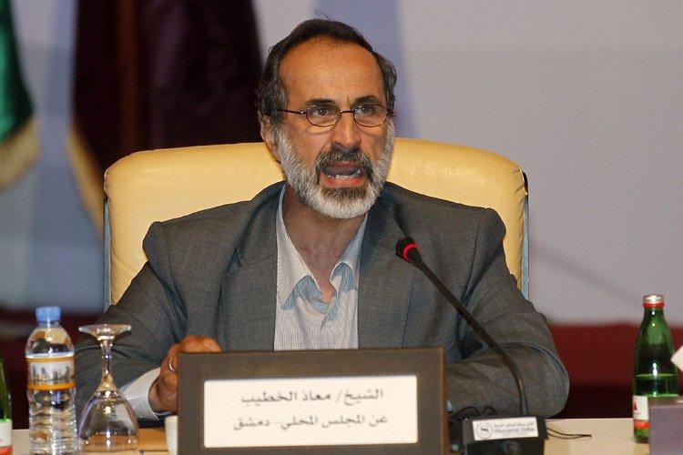 Le cheikh Ahmad Moaz Al-Khatib a été élu... (Photo: Reuters)
