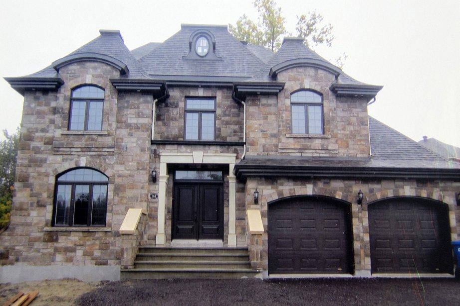 La maison qui a subi des dommages, telle... (Photo: archives La Presse)