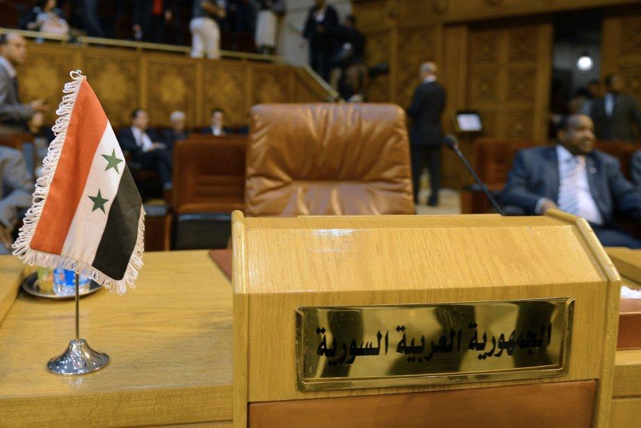 Le siège de la Syrie, vide, au sein... (Photo AFP)