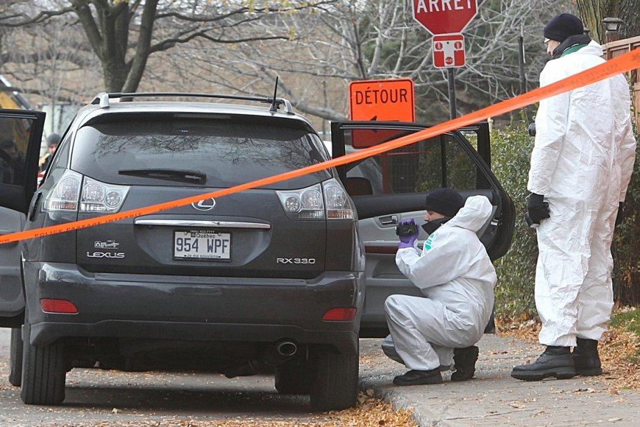 Le véhicule utilitaire sport Lexus a été trouvé... (Photo Patrick Sanfaçon, La Presse)