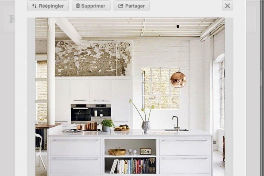 Cuisine épurée: on aime la blancheur de cette... (Capture d'écran Pinterest)