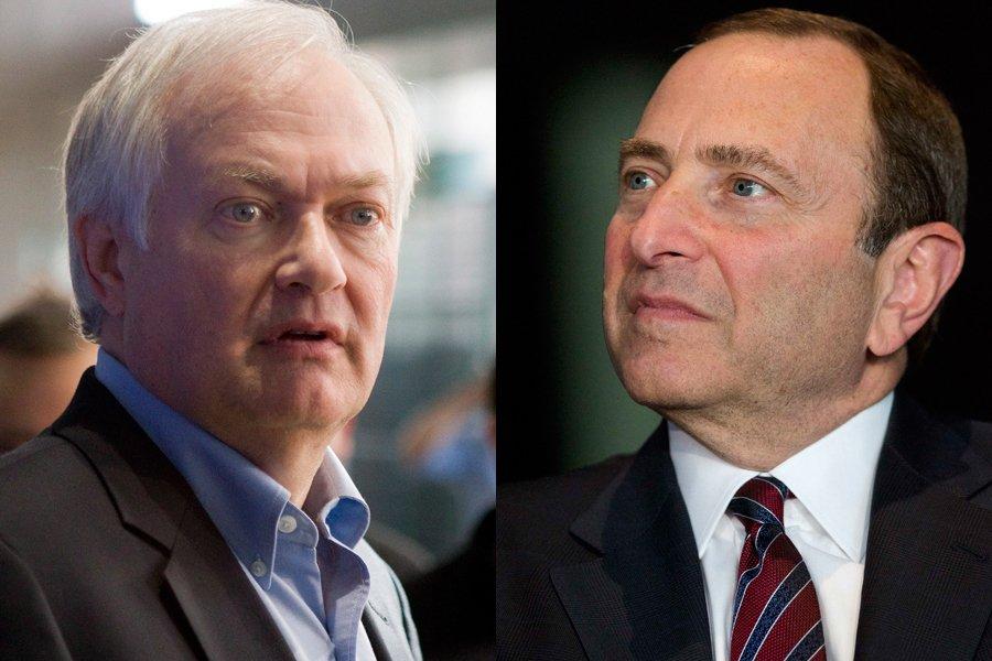 Donald Fehr et Gary Bettman... (Photos: PC et Reuters)