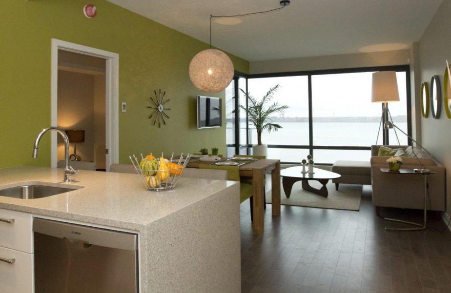 Cet appartement-témoin de 1000 pieds2 compte deux chambres.... | 2012-11-16 00:00:00.000