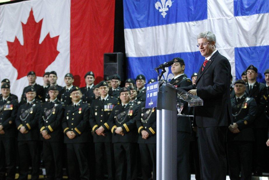 Stephen Harper était de passage à Québec hier... (Photo Yan Doublet, le Soleil)