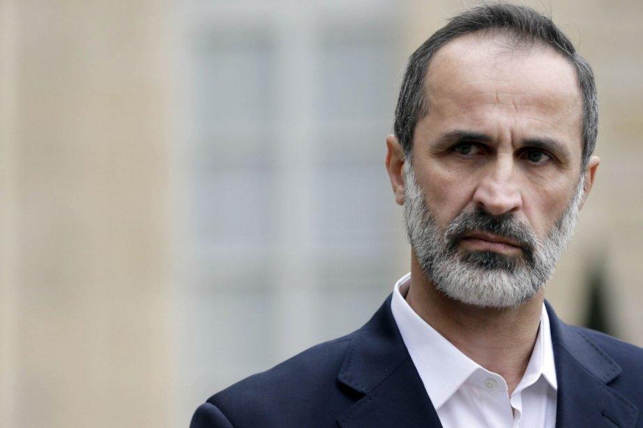 Le chef de l'opposition syrienne Ahmed Moaz al-Khatib.... (Photo Kenzo Tribouillard, Agence France-Presse)