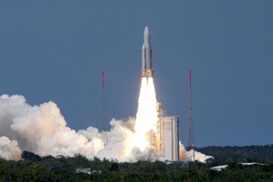 Réussite technologique, le lanceur européen apparaît aujourd'hui mal... (Photo Jérome Valette, Agence France-Presse)