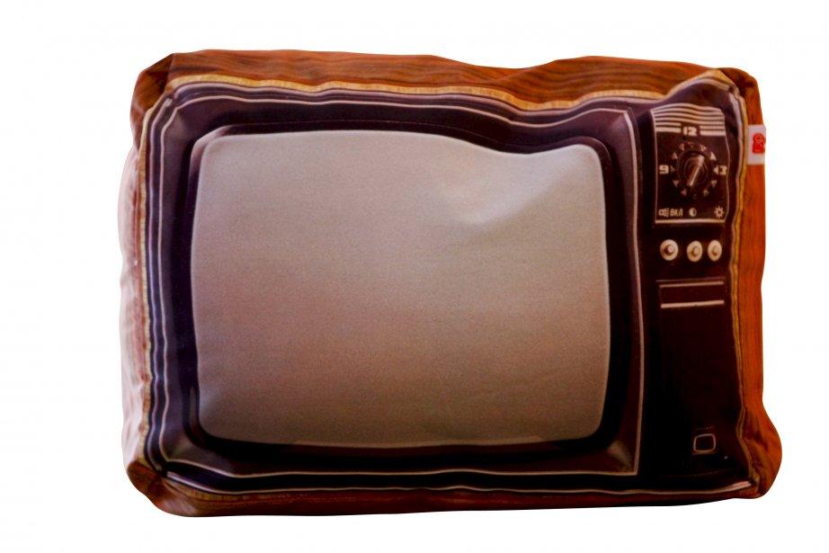 Coussin téléviseur, 23,95 $ chez Le Paillasson, 1298, avenue Maguire, Québec, 418686-2240 | 18 novembre 2012