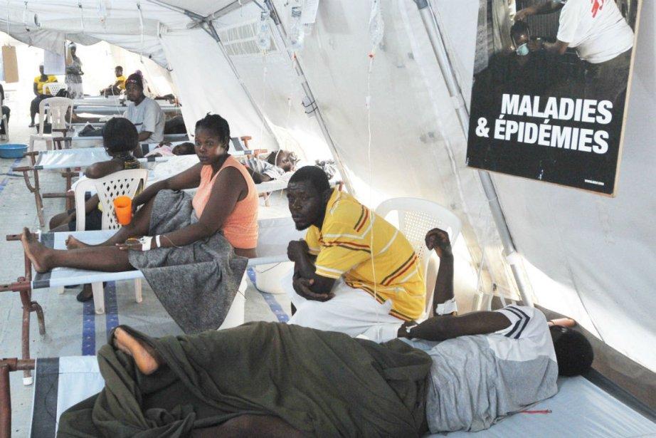 À la suite des intempéries, 44 personnes sont... (Photo Thony Belizaire, Agence France-Presse)