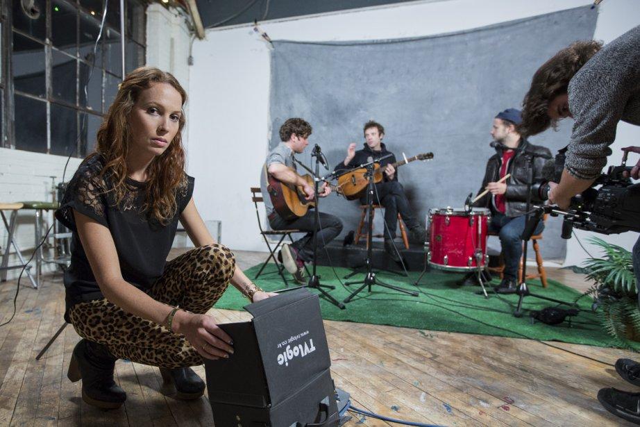 Melissa Hetu anime BRBR, une émission franco-ontarienne qui... (Photo: Édouard Plante-Fréchette, La Presse)