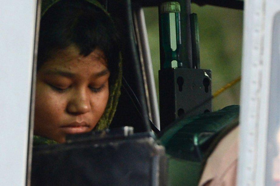 Rimsha Masih,arrêtée en août puis relâchée sous caution... (PHOTO FAROOQ NAEEM, ARCHIVES AGENCE FRANCE-PRESSE)
